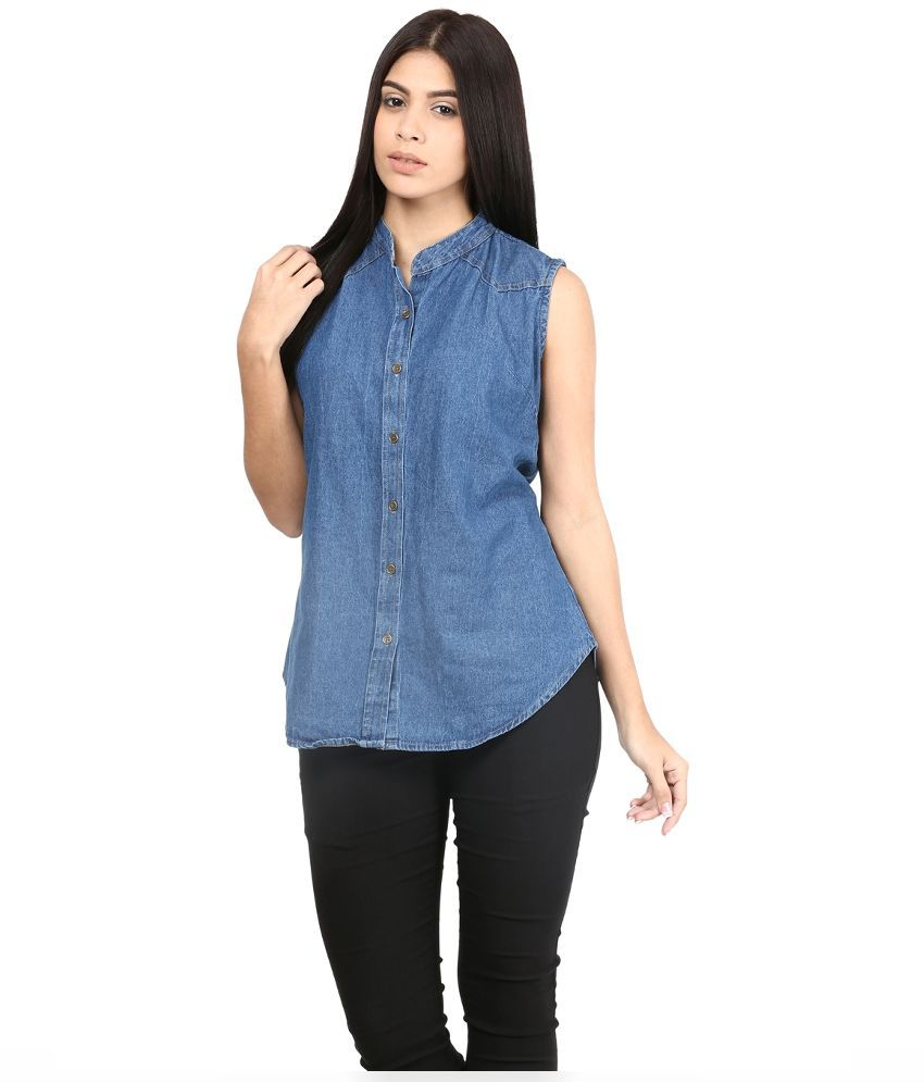 Buy mayra blue denim shirts online at best prices in india for Buy denim shirts online