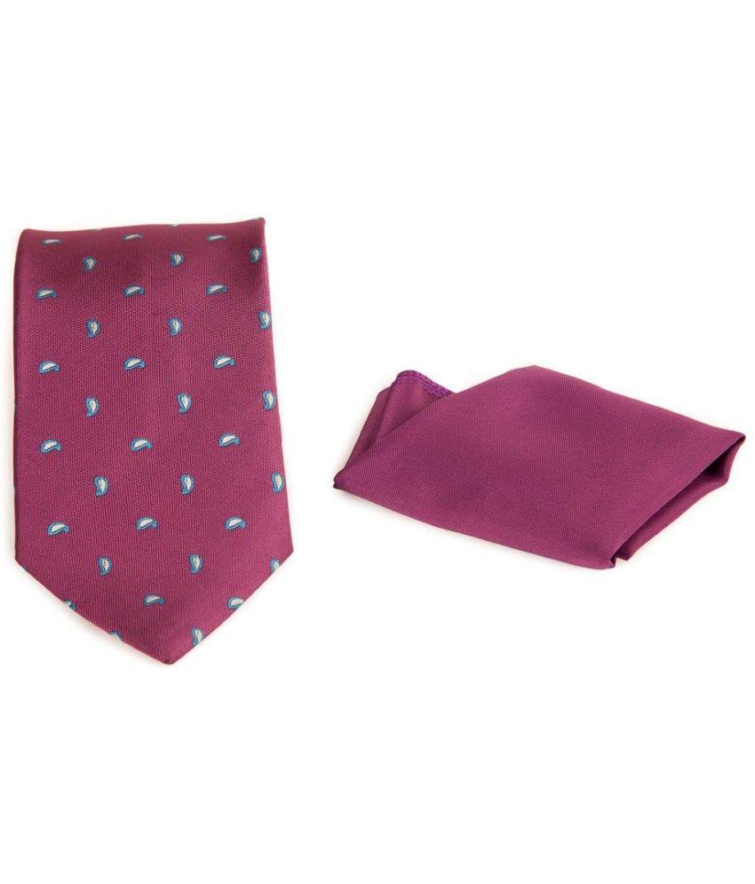 The Vatican Combo of Purple Micro Fiber Tie and Square Pocket