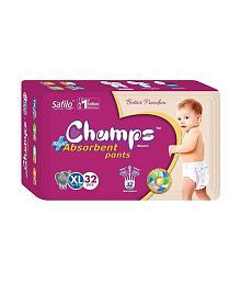 Champs High Absorbent Pant Style Diaper Extra Large(32 Pieces)