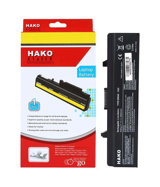 Hako 6 Cell Laptop Battery for Dell Inspiron 14 1440 17 1750 Vostro 500
