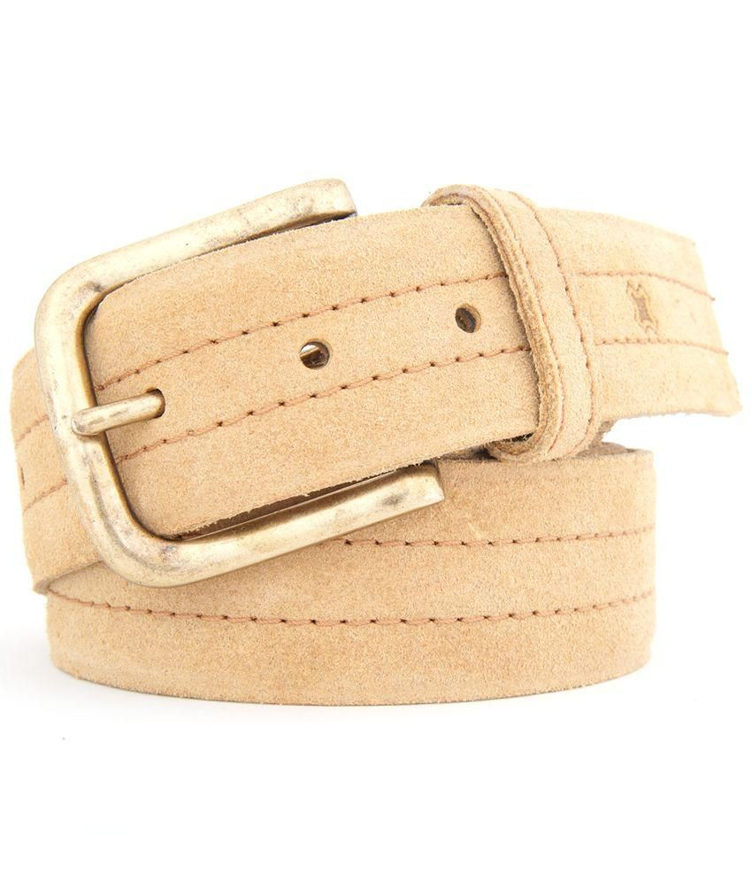 Hidea Beige Leather Belt for Men