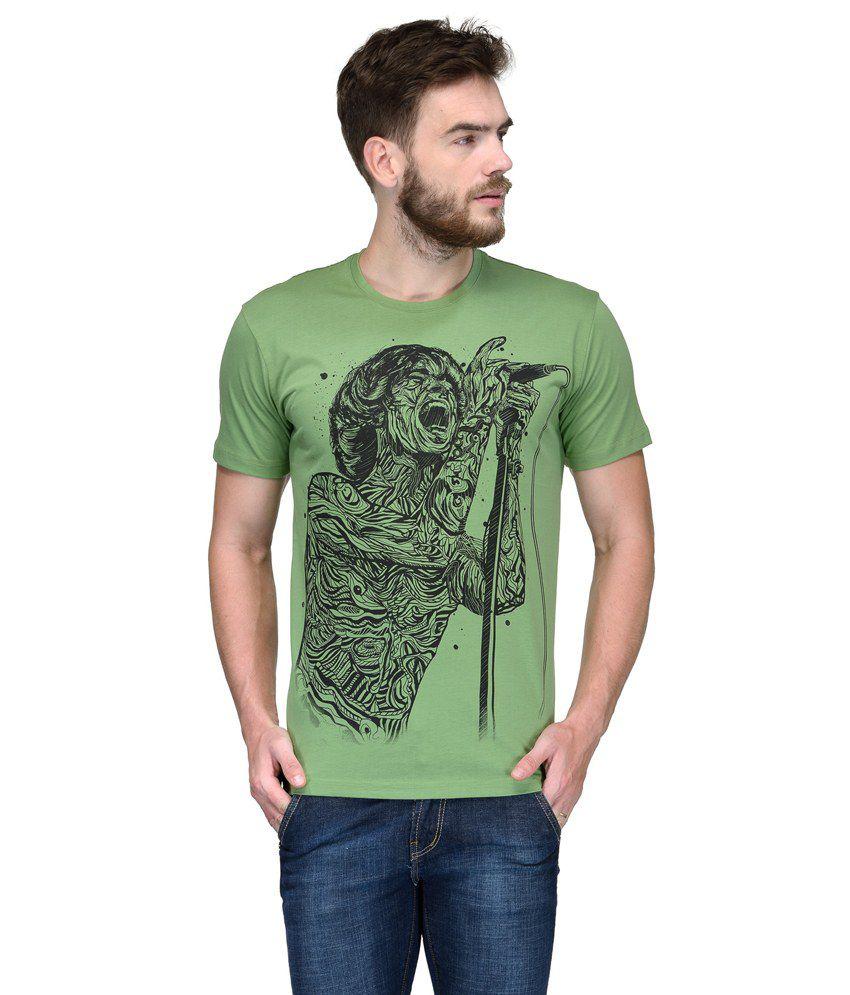 Slingshot Green Round T Shirt