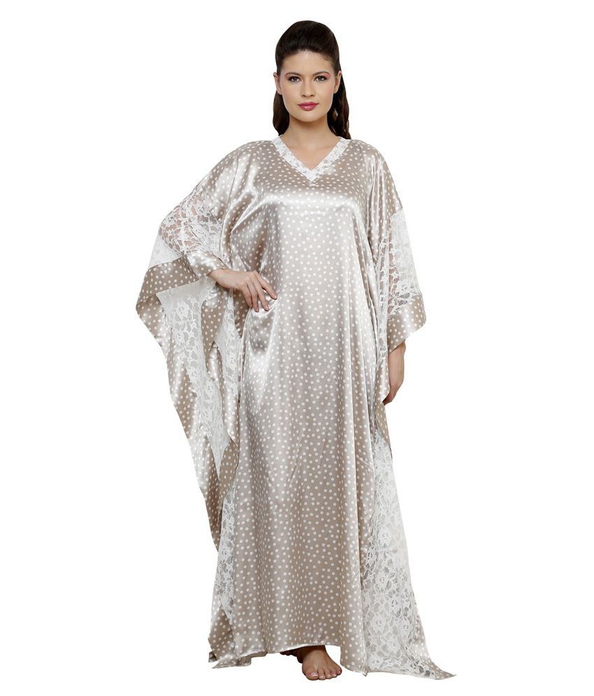 Buy The Kaftan Company Silver Satin Nighty & Night Gowns Online at ...