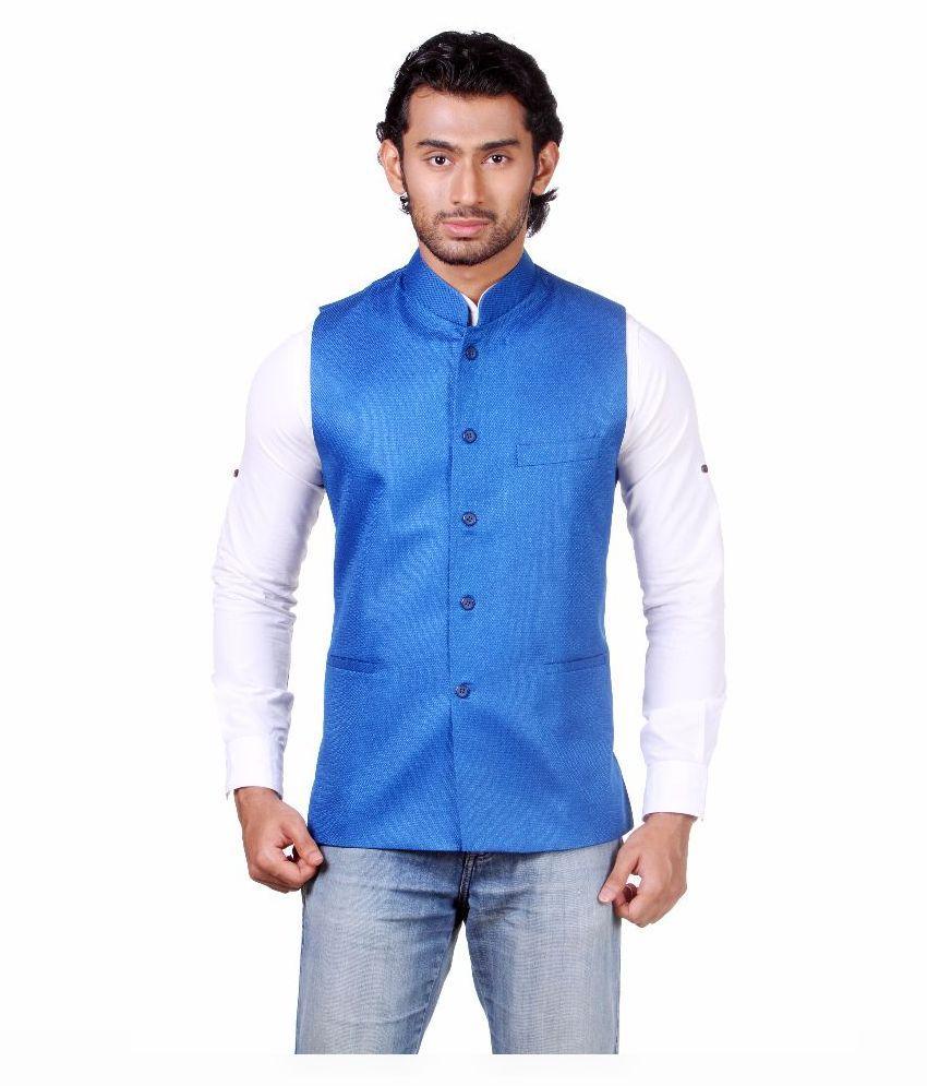 Amora Blue Festive Waistcoats