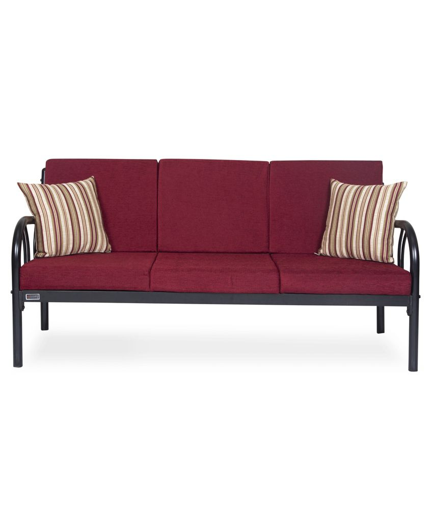 848025b1fdb Furniturekraft Metal 3+1+1 Sofa Set- Maroon - Buy Furniturekraft ...