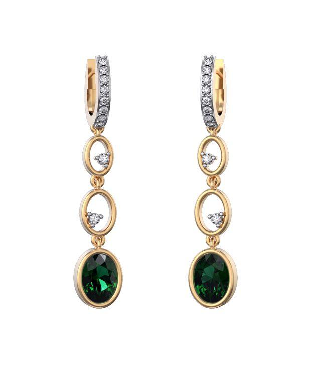 I Love Diamonds 18kt Gold Topaz Earrings