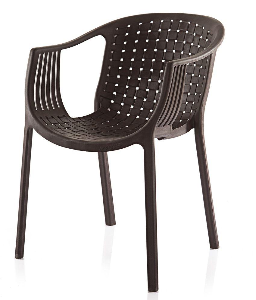 Varmora Designer Chair Set of 2 (Ola Netted-Brown) - Buy ...