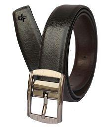 Discover Fashion Black Leather Formal Belts