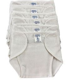 Super Baby White Diaper - Pack of 6