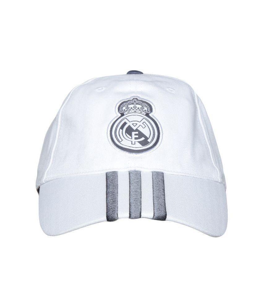 Adidas White Cotton Tennis Cap