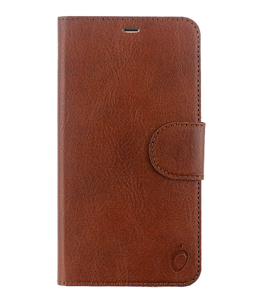 Cool Mango Flip Cover For Coolpad Note 3 Lite - Brown