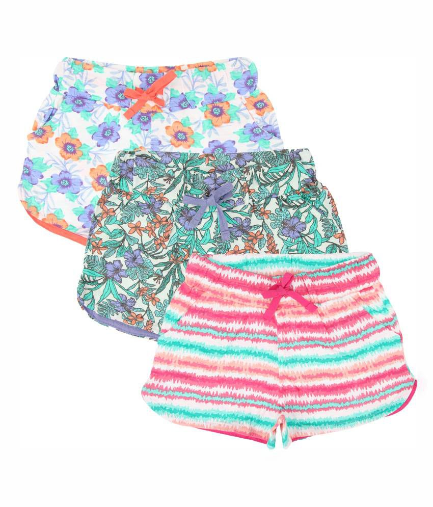 Eimoie Multicolour Cotton Shorts – Pack of 3