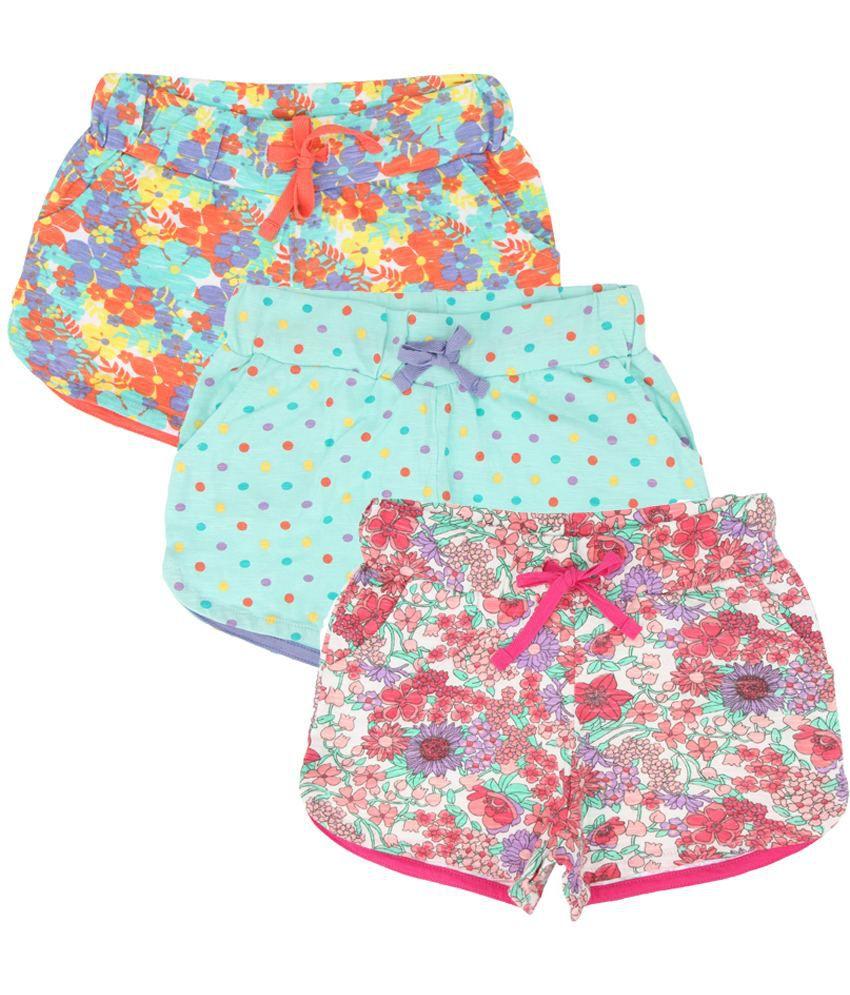 Eimoie Multicolour Cotton Shorts - Pack of 3