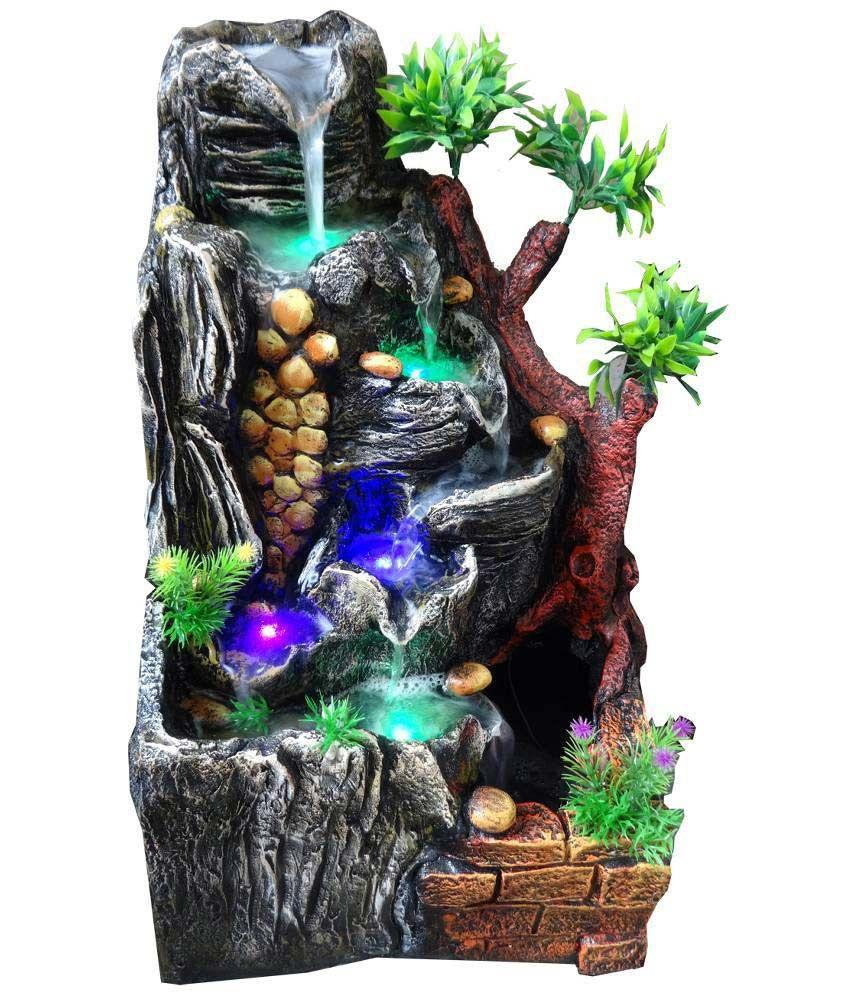 NVR Multicolour Water Fountain Showpiece