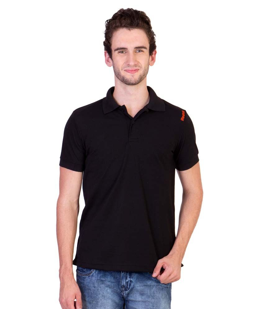 Reebok Black Polo T Shirts