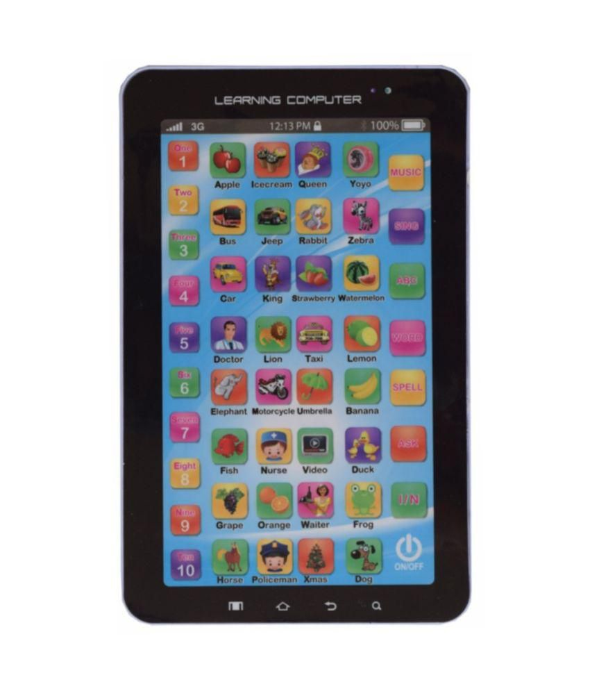 All India Handicrafts Amazing P-1000 kids learning educational playing toy Tablet For Kids - Multi Colour