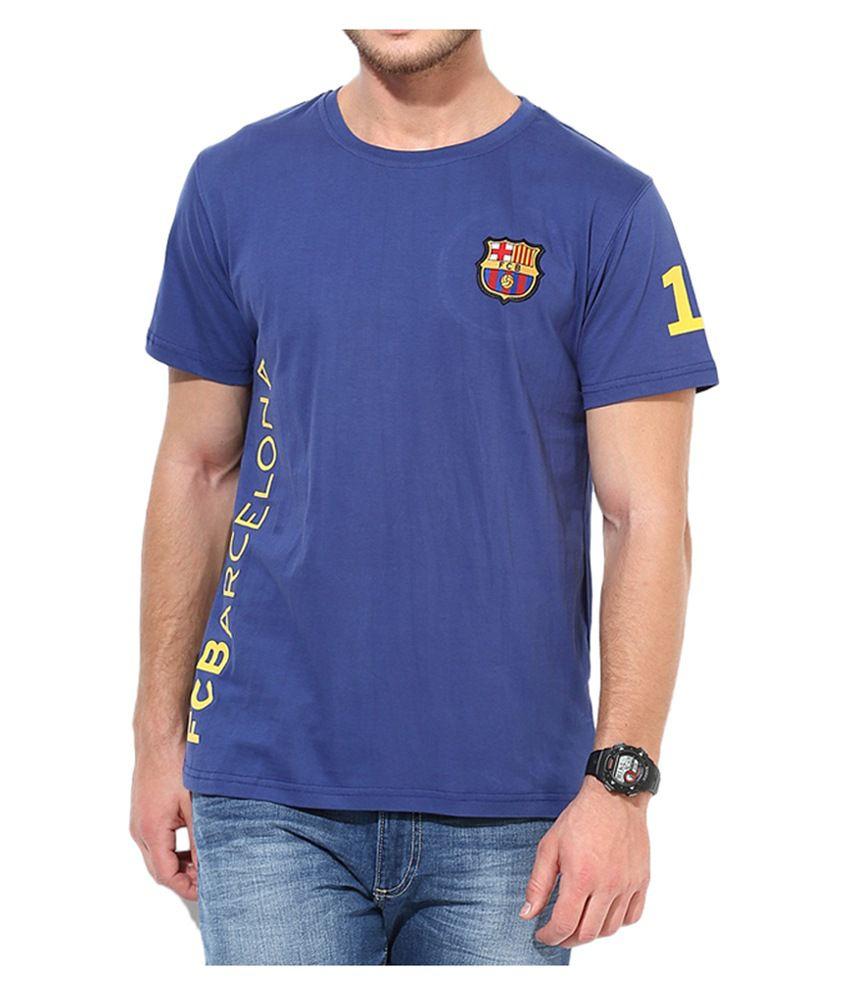 Barcelona T Shirt Mens Messi Round Neck 53
