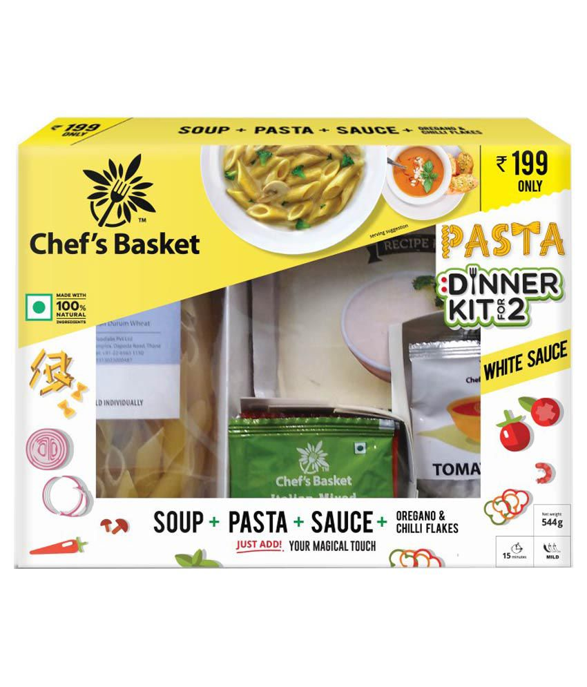 Chef's Basket White Sauce Pasta & Soup Dinner Kit For 2 low price