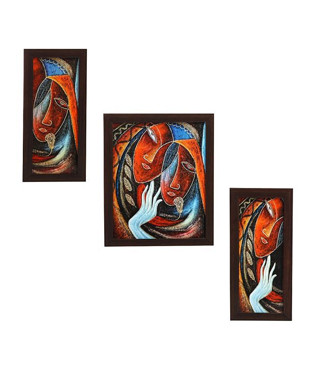 indianara 3 piece set of framed wall art charming rural women buy indianara 3 piece set of. Black Bedroom Furniture Sets. Home Design Ideas