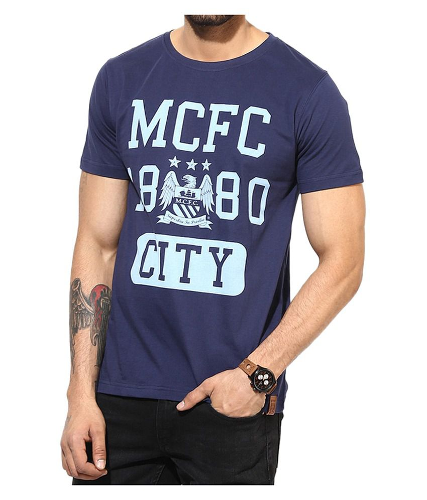 Manchester City F.C. T Shirt Mens Round Neck
