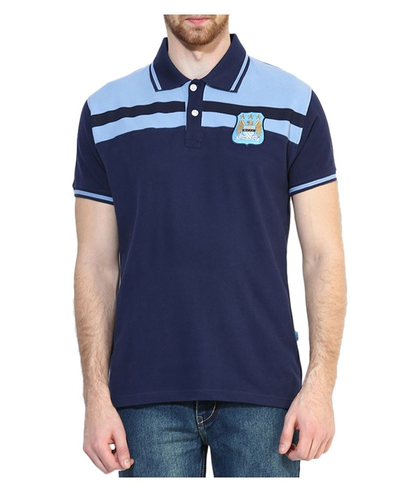 Manchester City F.C. T Shirt Mens H-Stripe Polo