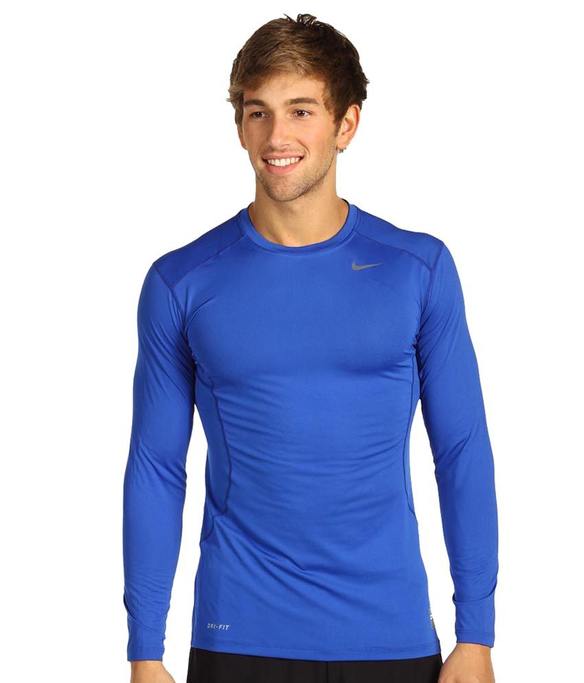 Nike As Core Compression LS Top 2.0 T-Shirt - Blue