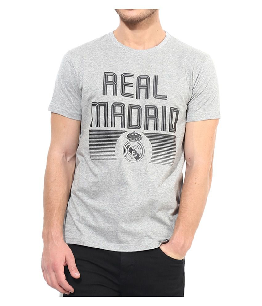 Real Madrid F.C. T Shirt Mens Round Neck