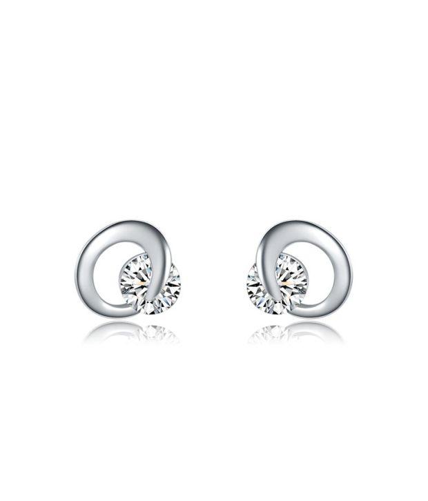 Carina Jewelry White Alloy Earrings