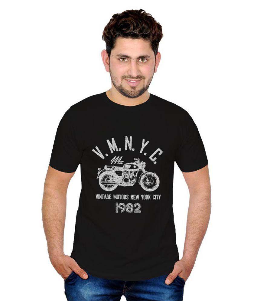 Inkit Black Round T Shirt