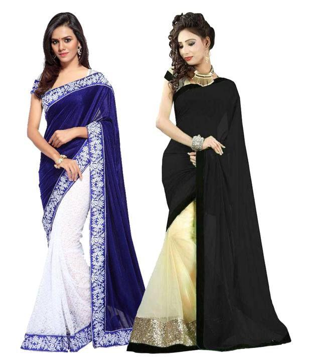 Laxmi Fashion Multicoloured Georgette Saree Combos