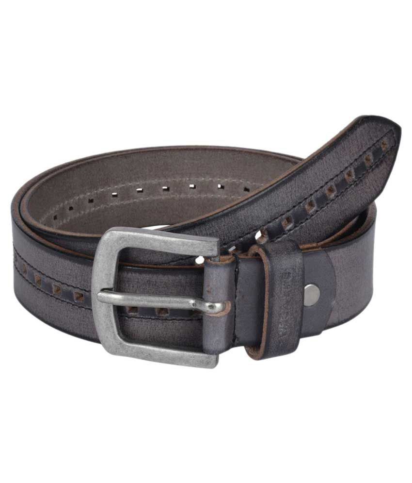 Wega Life Grey Leather Belt for Men