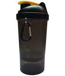 Udak Black 500ml Gym Shaker Sipper Bottle