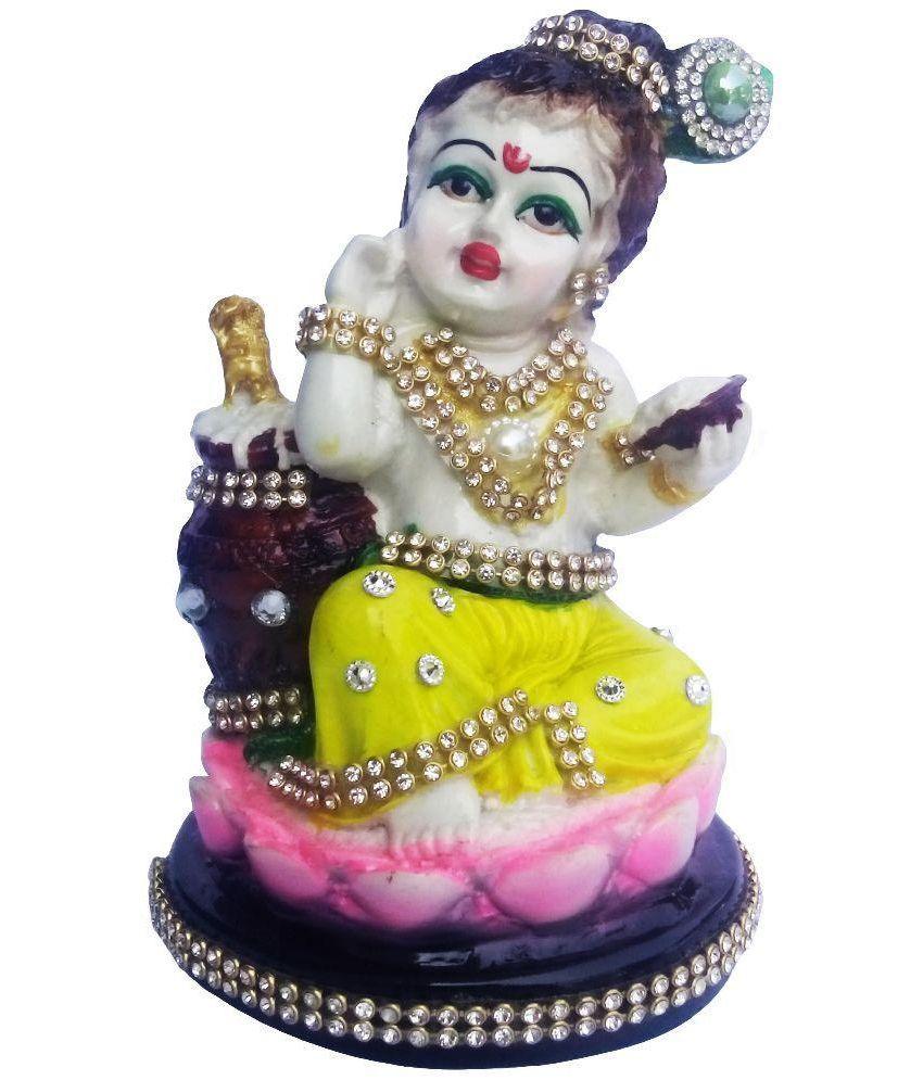 Annkay Handicrafts Lotus Seated Bal Gopal Idol