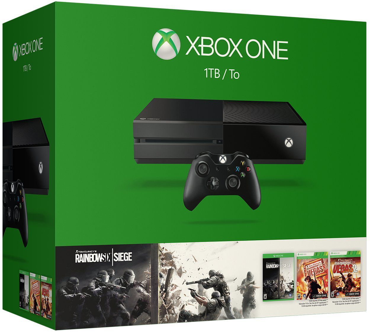Microsoft XBox One Console With 3 Game