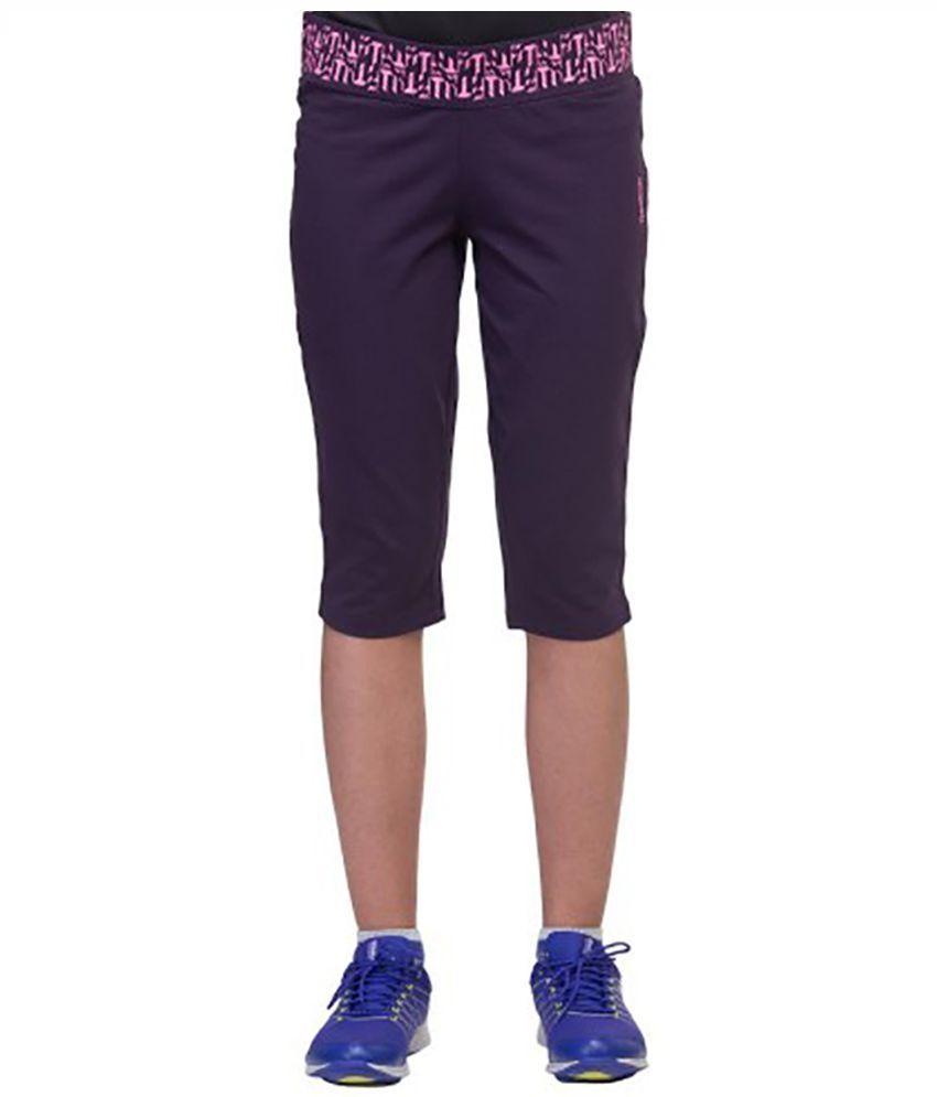 Reebok Purple Cotton Capris