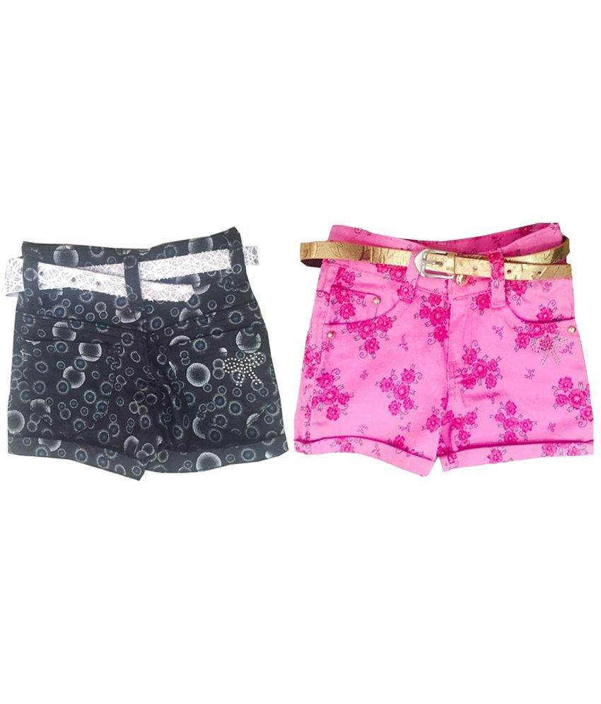 Vodoo Kids Multicolour Printed Shorts - Pack Of 2