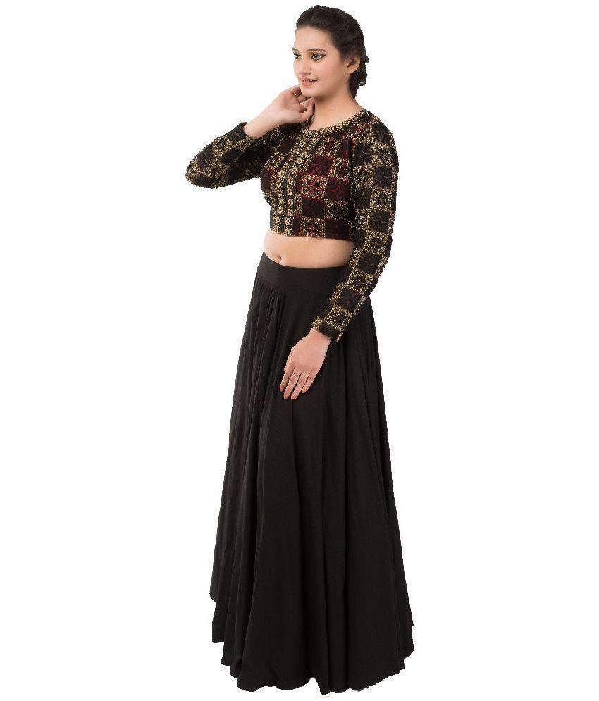 433c9be14b Iqra Designer Black Silk Skirt With Blouse - Buy Iqra Designer Black ...