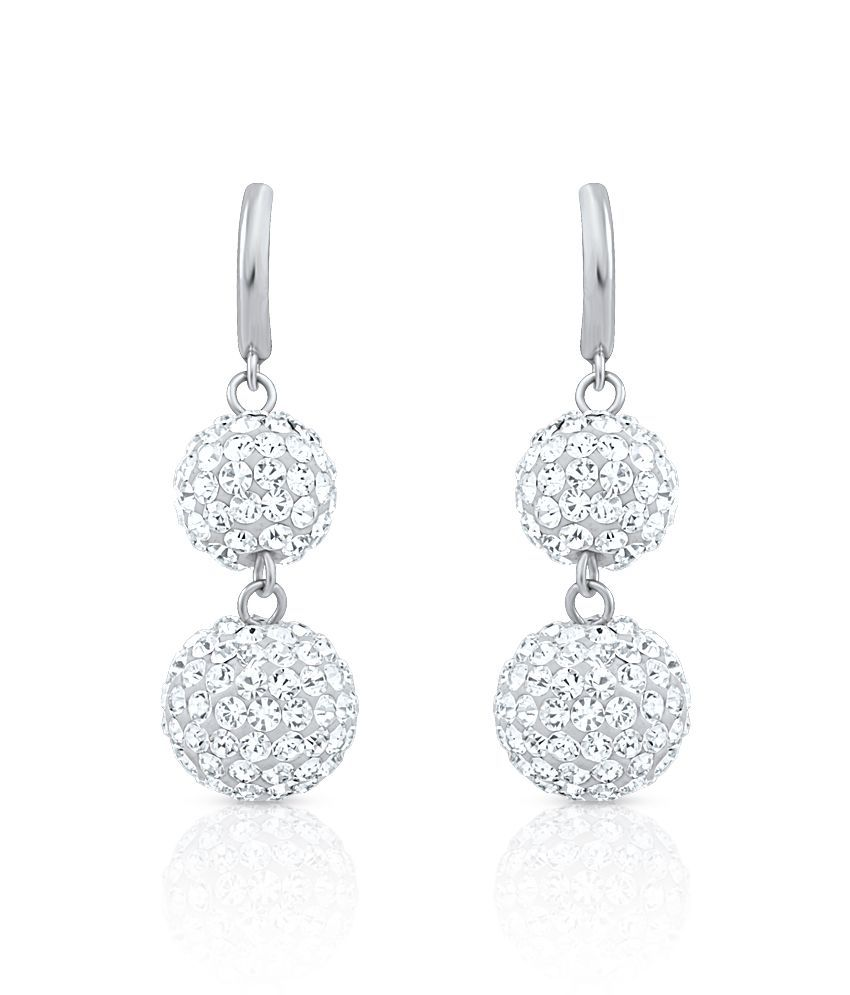 Oviya Silver Alloy Hanging Earrings