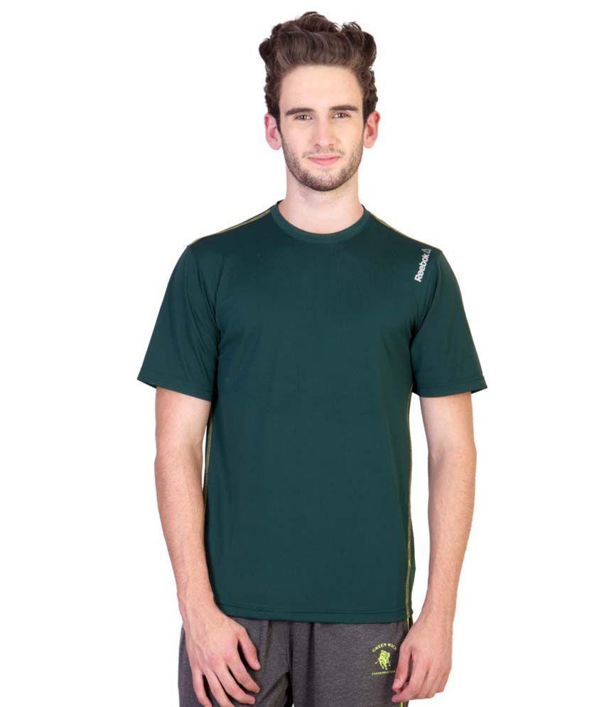 Reebok Green Round T Shirts