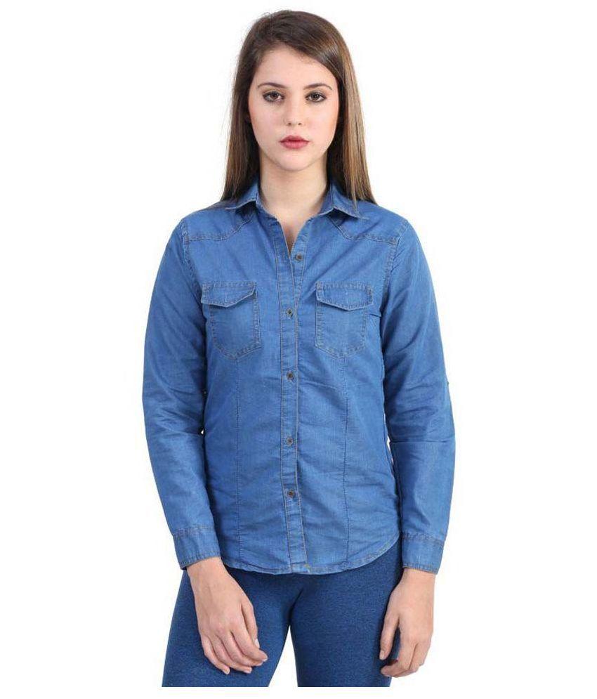 Shalu Art India Blue Denim Shirts