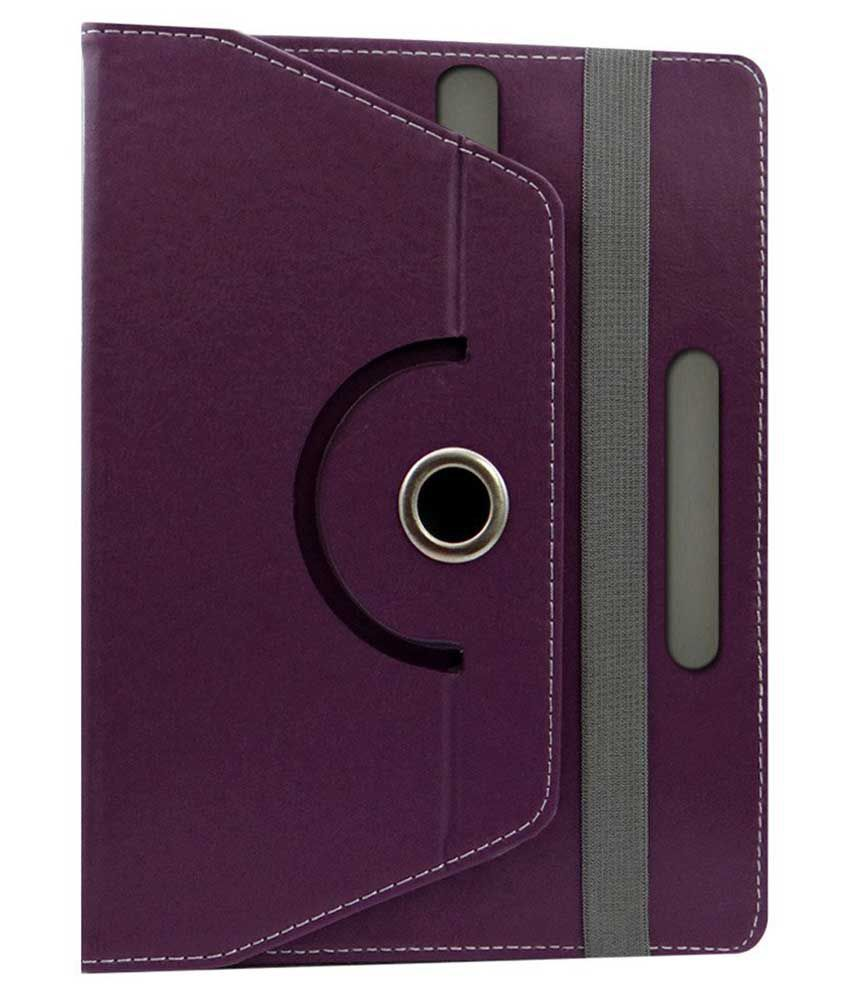 KOKO Rotating 360 Degree Flip Case Cover For IZOTRON X7 3G Tablet- Purple