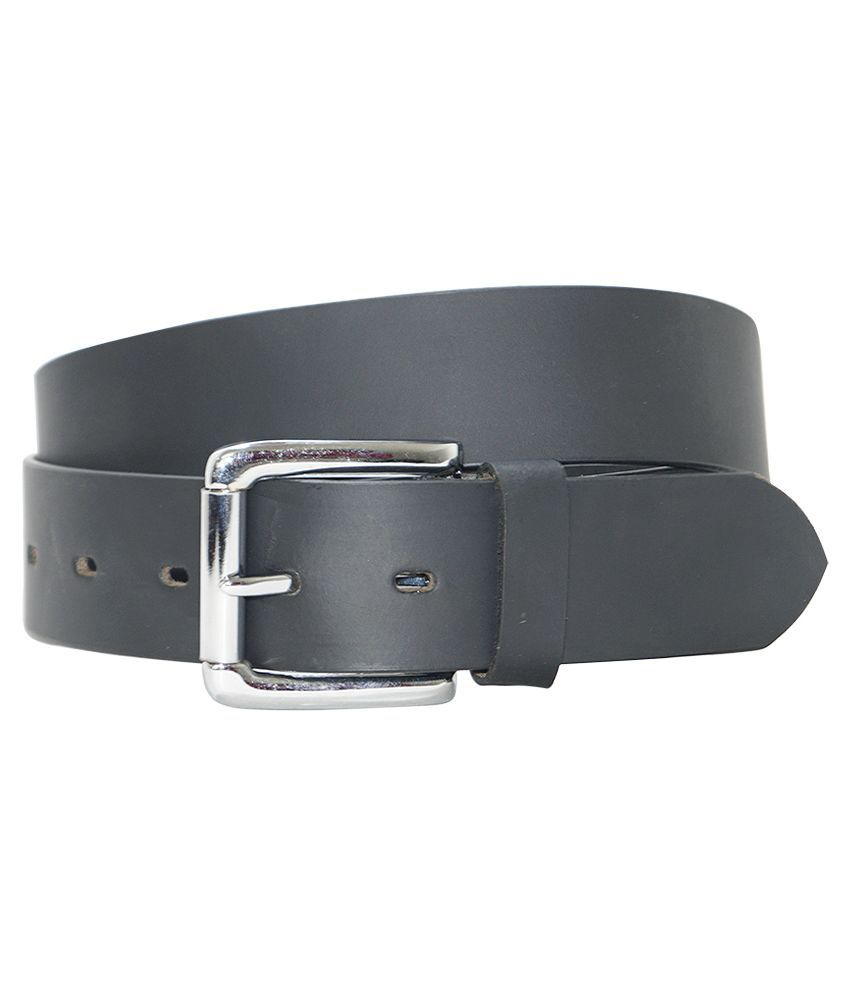 Hadwin B;ack Leather Belt For Men