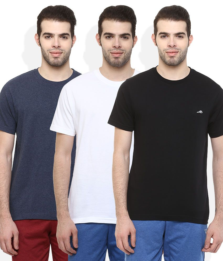 2Go Multi Colour Pack of 3 T-Shirt