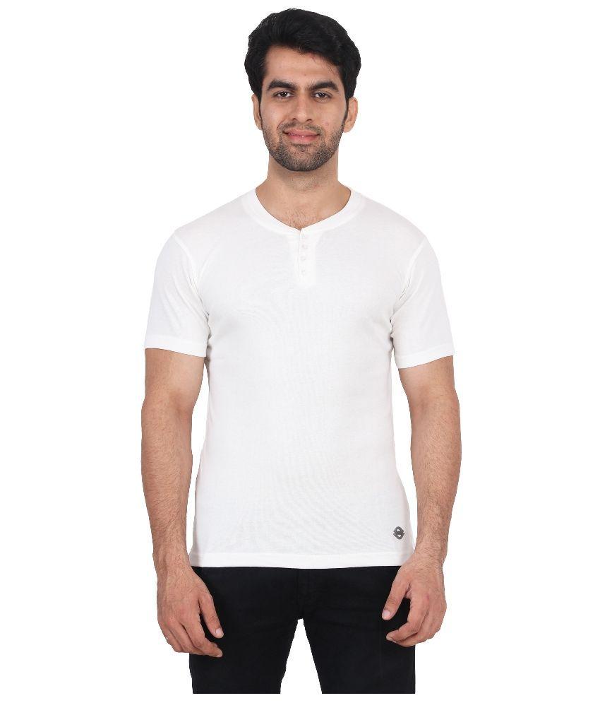 Fashcom White Henley T Shirt