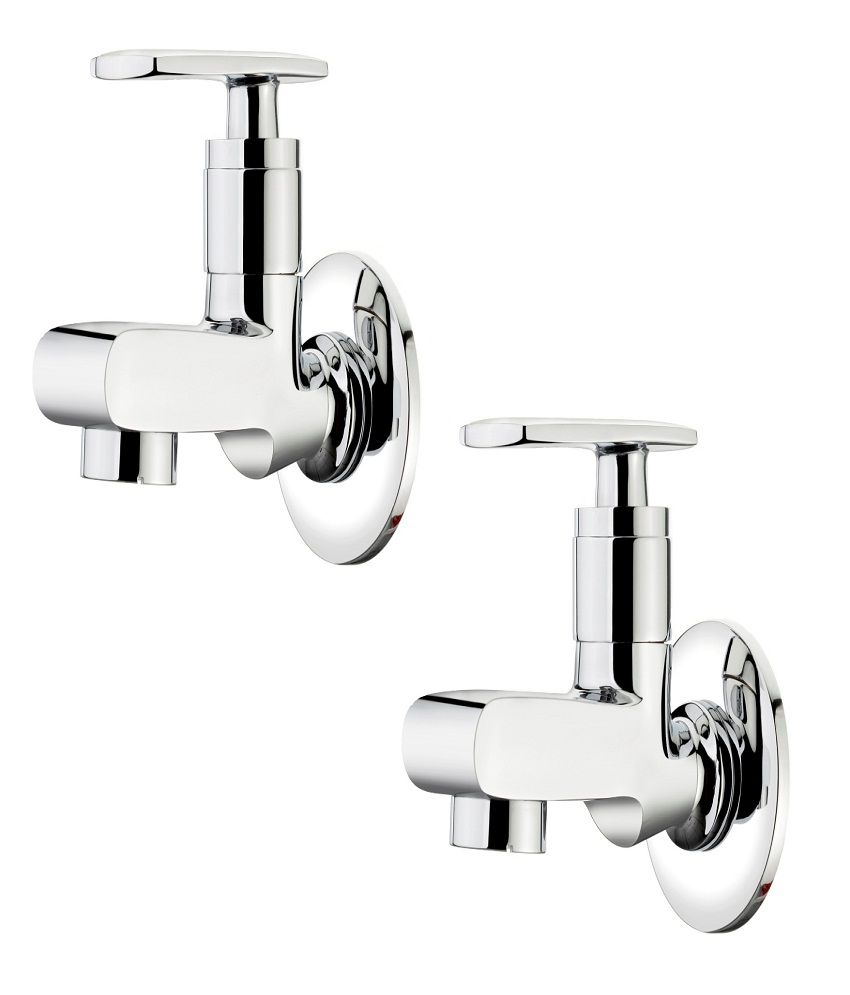 Buy Ganga Liva Bath Tap 301 With Wall Flange Faucet Set of 2 Pcs