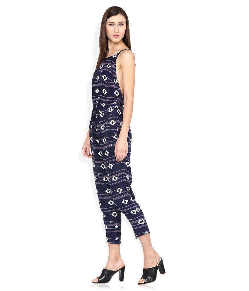 af520714d8d Roxy Navy Blue Printed Jumpsuit Roxy Navy Blue Printed Jumpsuit ...