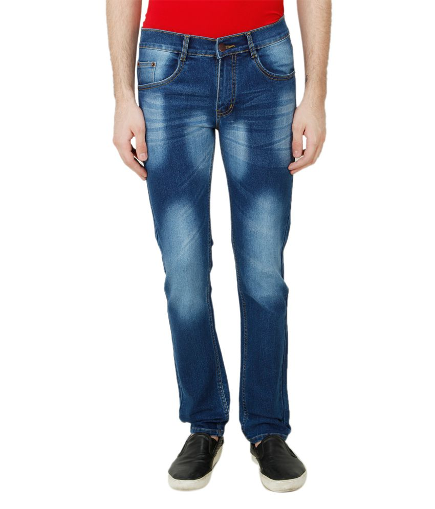 Ansh Fashion Wear Blue Regular Fit Solid Jeans