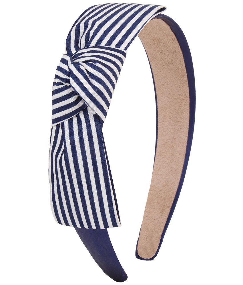 Fayon Blue Alloy Line Bow Hair Band