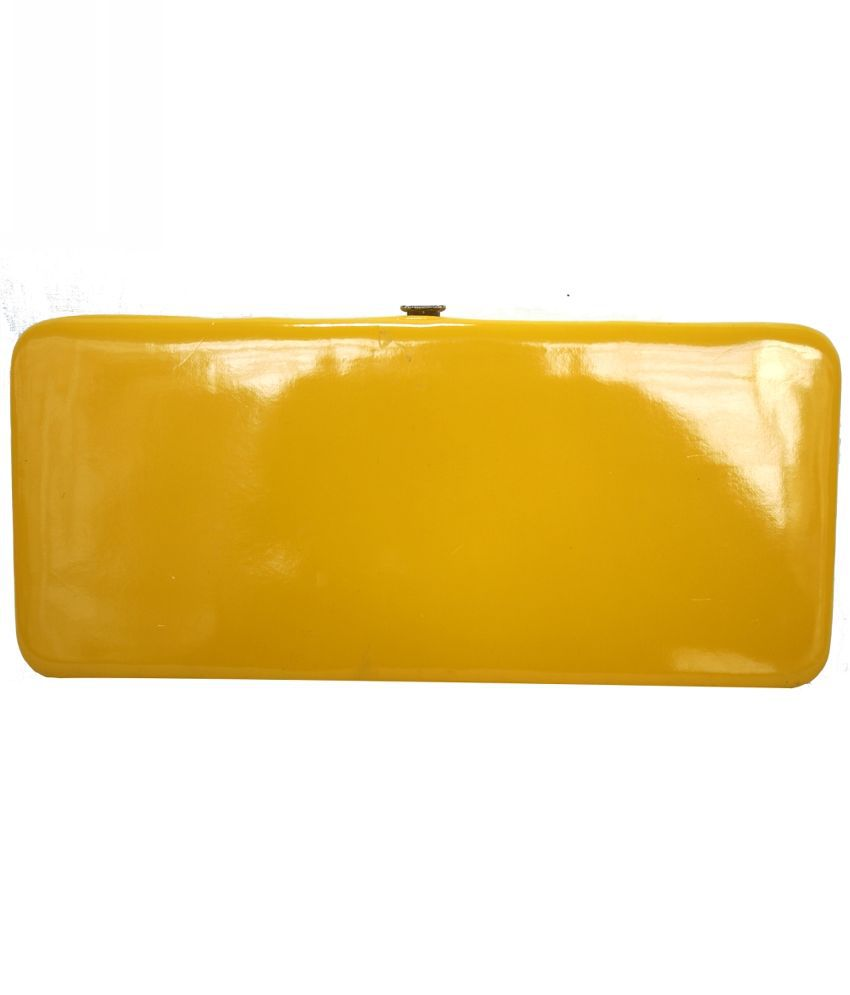 Hydes Yellow Faux Leather Clutch