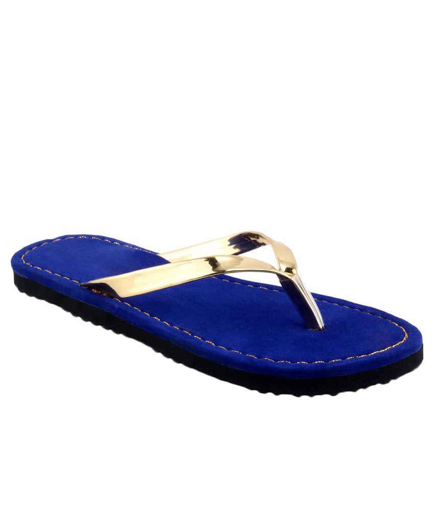Shoe Lab Gold Flip Flops